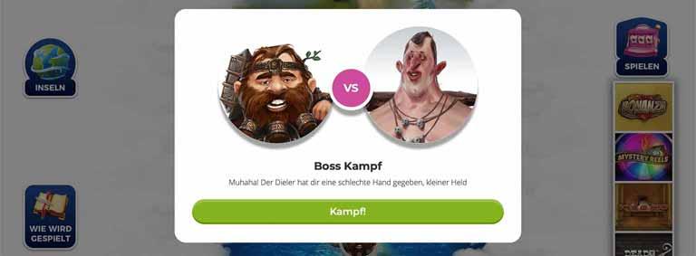 Boss Kampf bei Casino Heroes