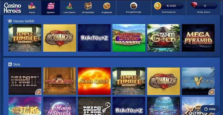 Spiele von Casino Heroes
