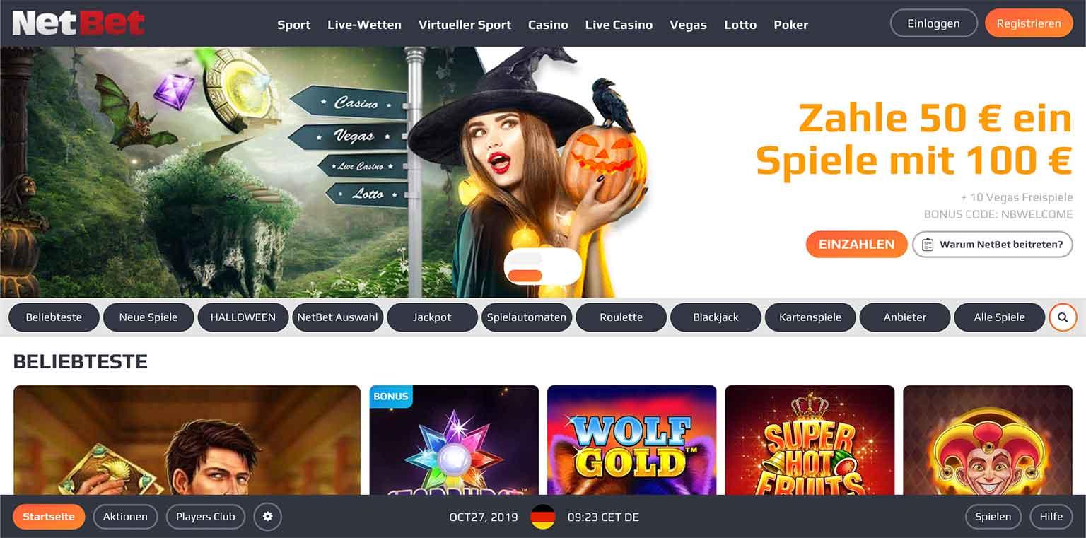 NetBet Casino Lobby