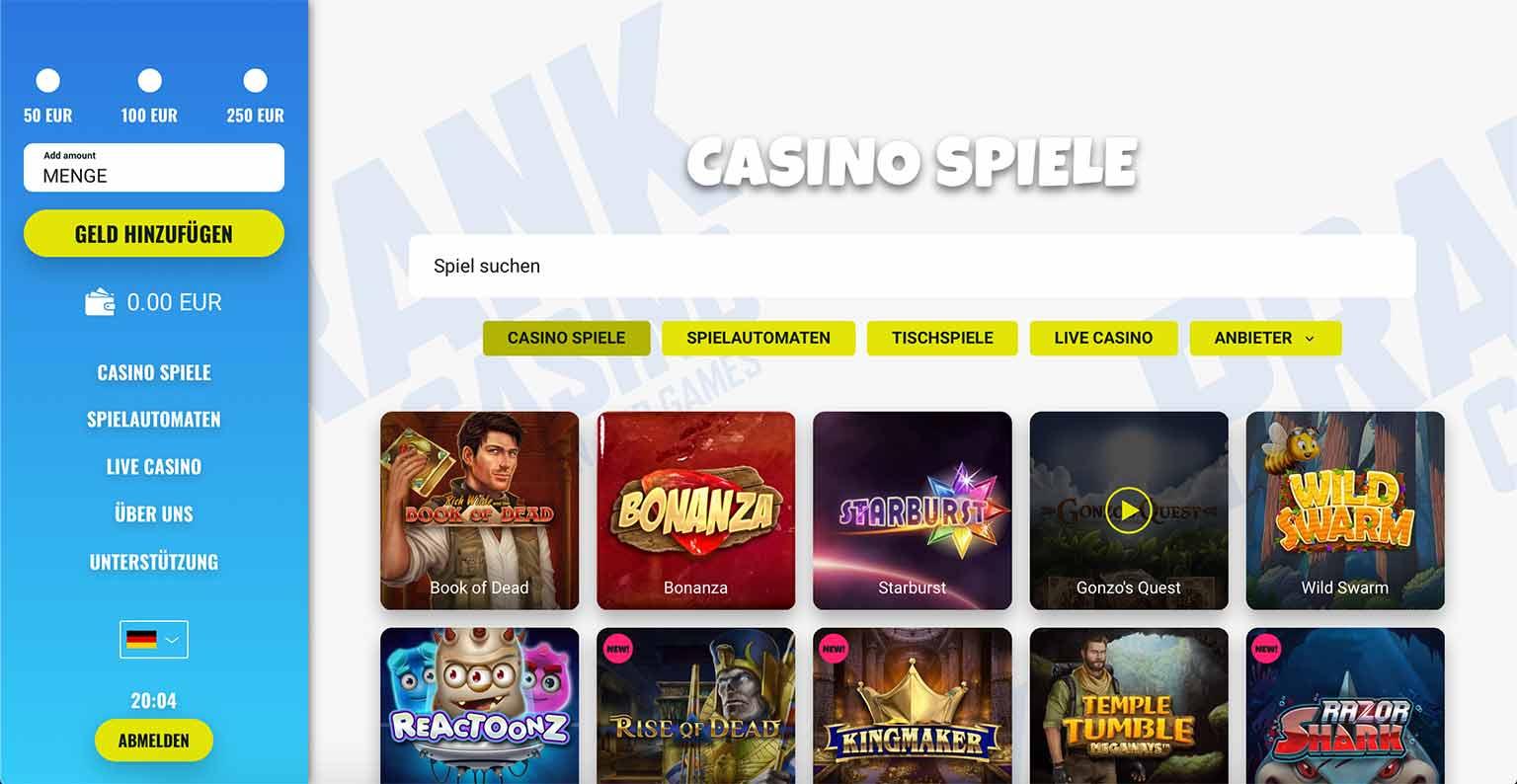 Spiele im Prank Casino