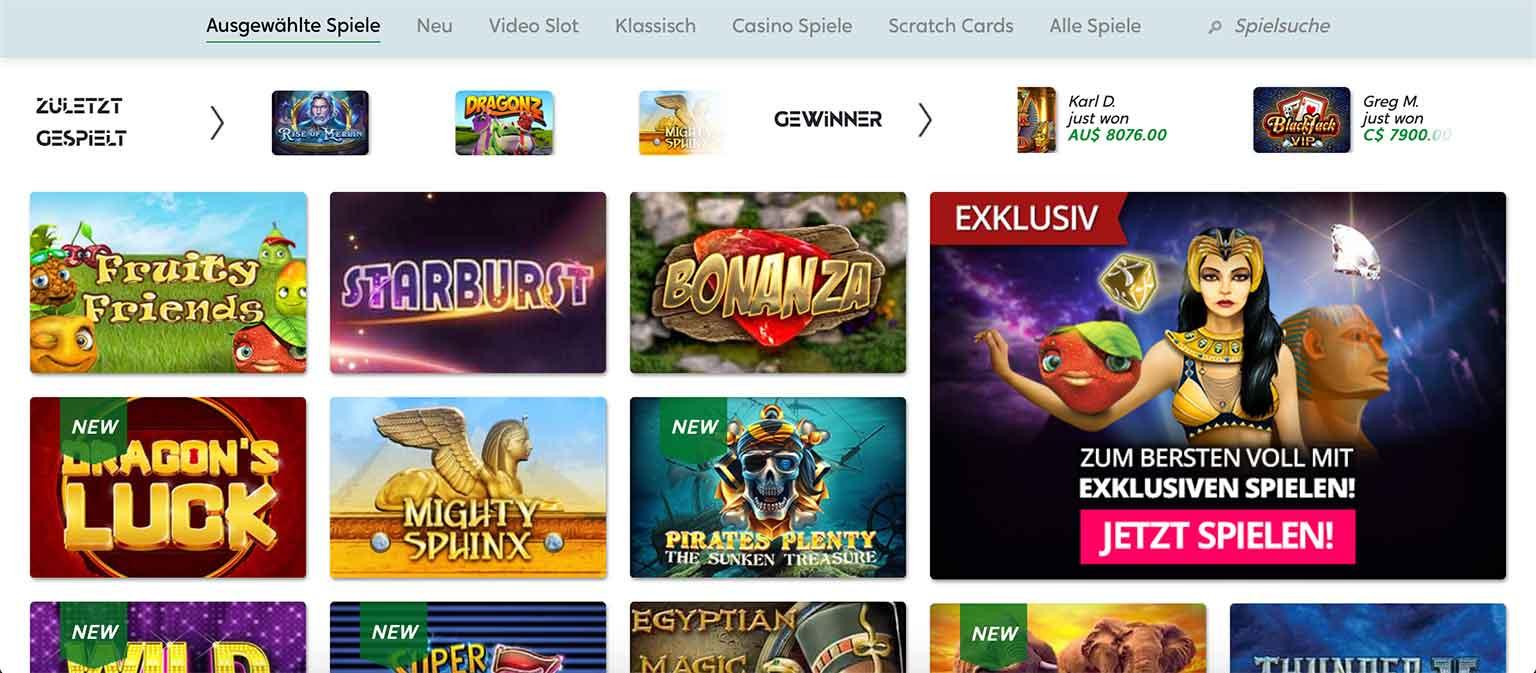 GoPro Casino Spiele