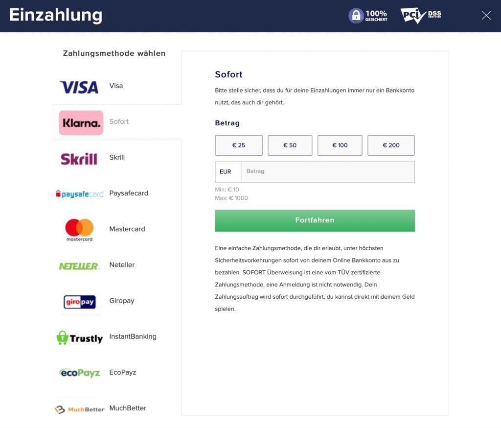 CasinoEuro Zahlungsmethoden