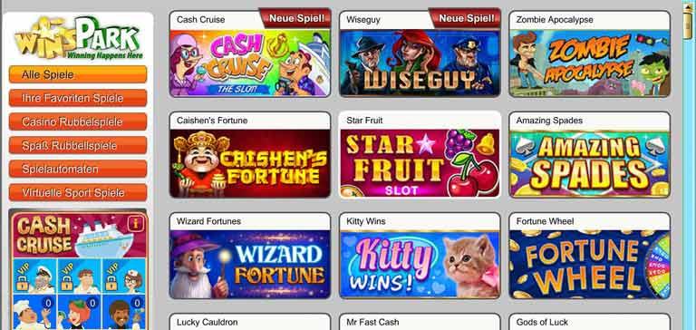 winspark casino spiele