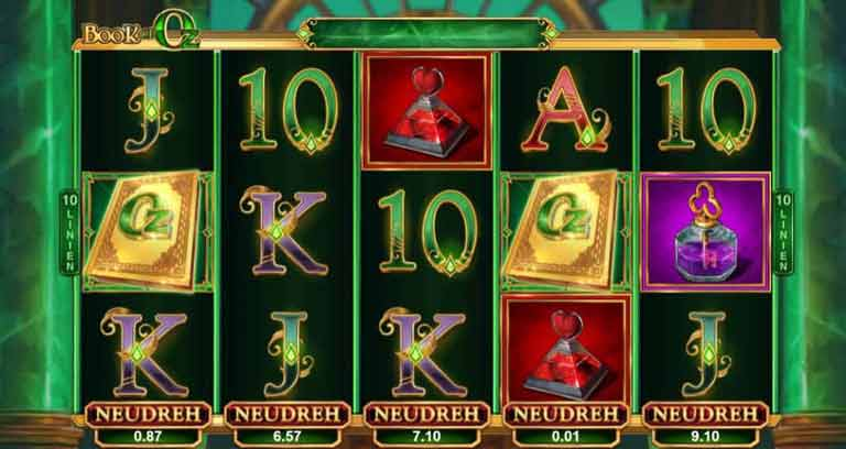 Re-Spins Feature Book of Oz Slot