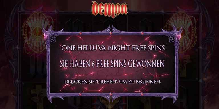Free Spins Feature Demon Slot