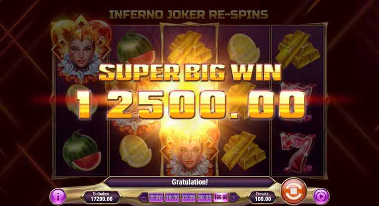Re-Spins Feature Inferno Joker Slot