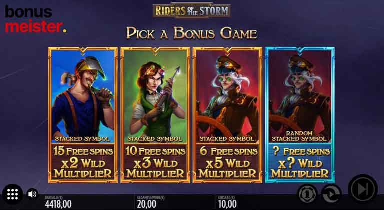 Free Spin Feature vom Riders of the Storm Slot