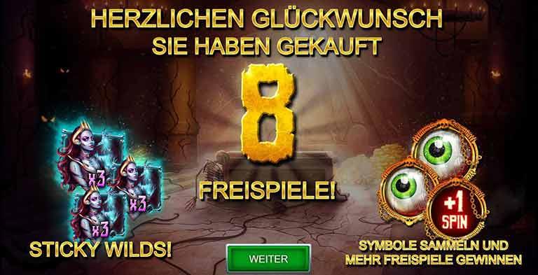 Freispiel Feature Zombie Queen Slot