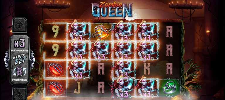 zombie queen slot sticky wild