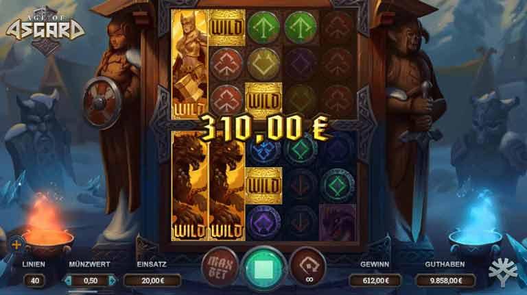 Wild-Symbole Age of Asgard Slot