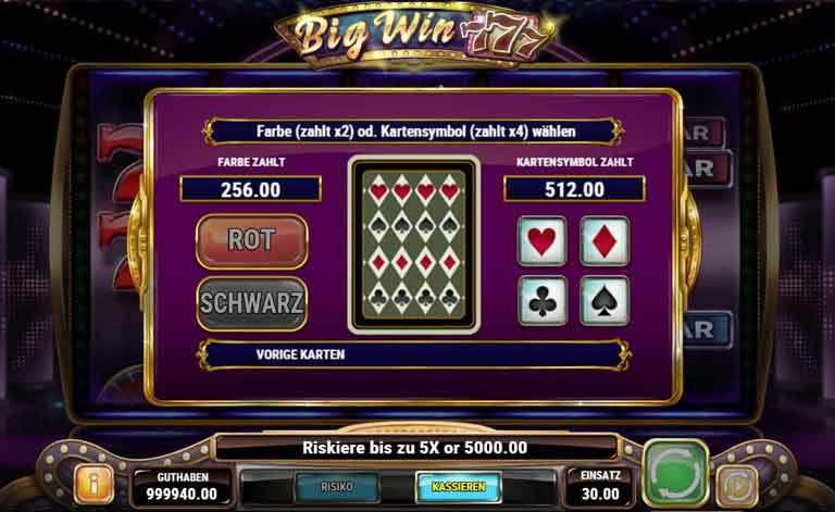 Risiko-Feature Big Win 777 Slot