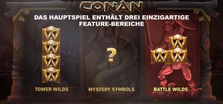 conan slot hauptspiel features