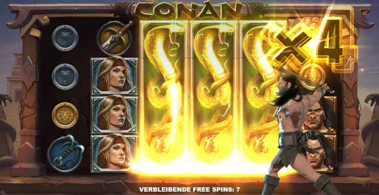 conan slot temple of the serpent feature