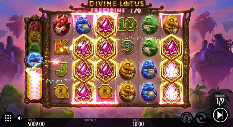 Free Spins Feature Divine Lotus Slot