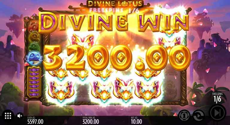 Gewinn beim Divine Lotus Slot