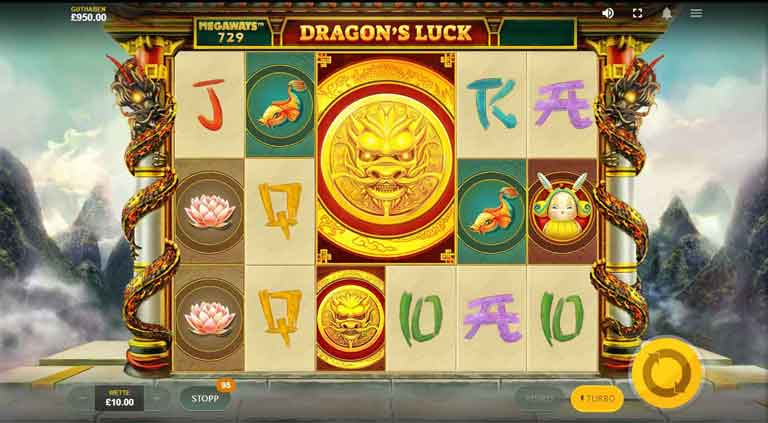 Mega Muenze vom Dragons Luck Megaways Slot