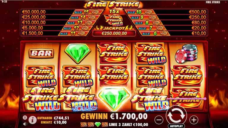 fire strike slot big win