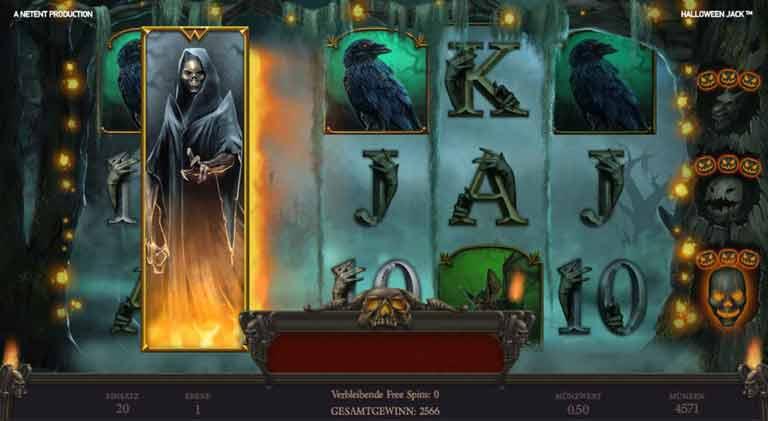 Expanding Death Reaper Halloween Jack Slot