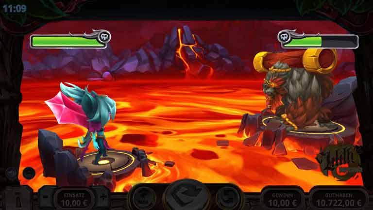 Boss Kampf Liliths Inferno Slot