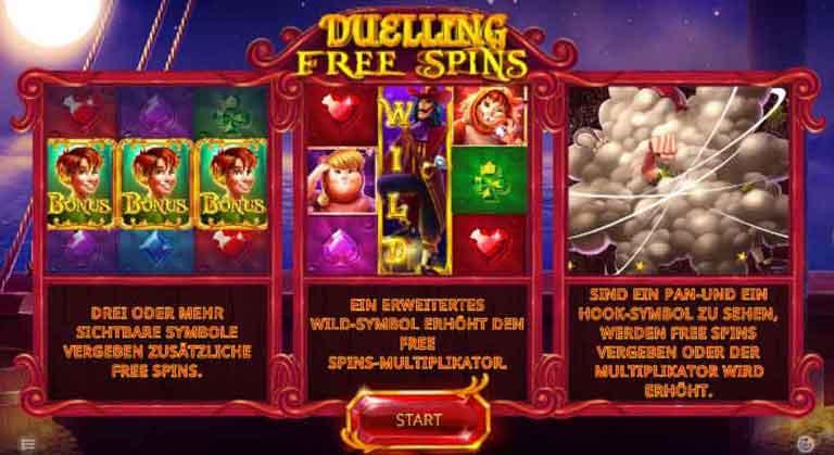 duellierende free spins