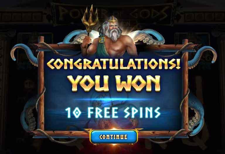 power of gods the pantheon slot kraken free spins