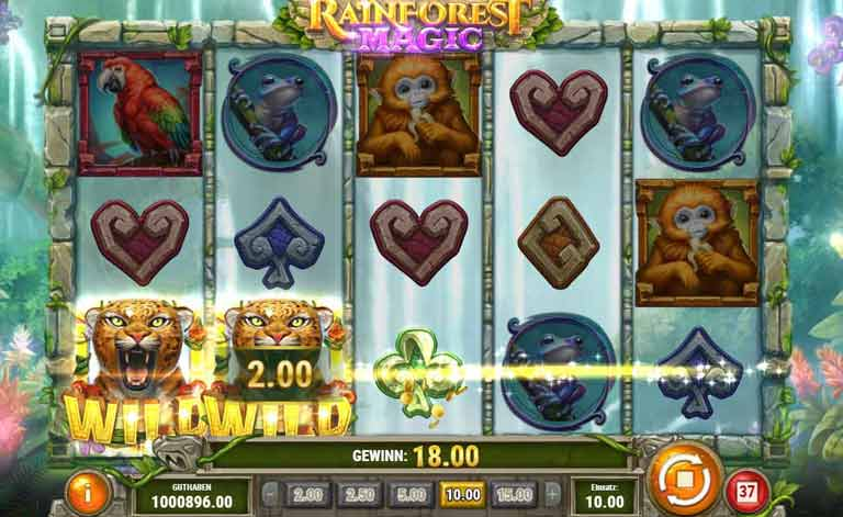 Wild-Symbol Rainforest Magic Slot