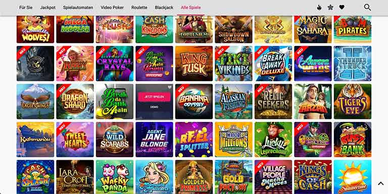 spin casino spieleauswahl