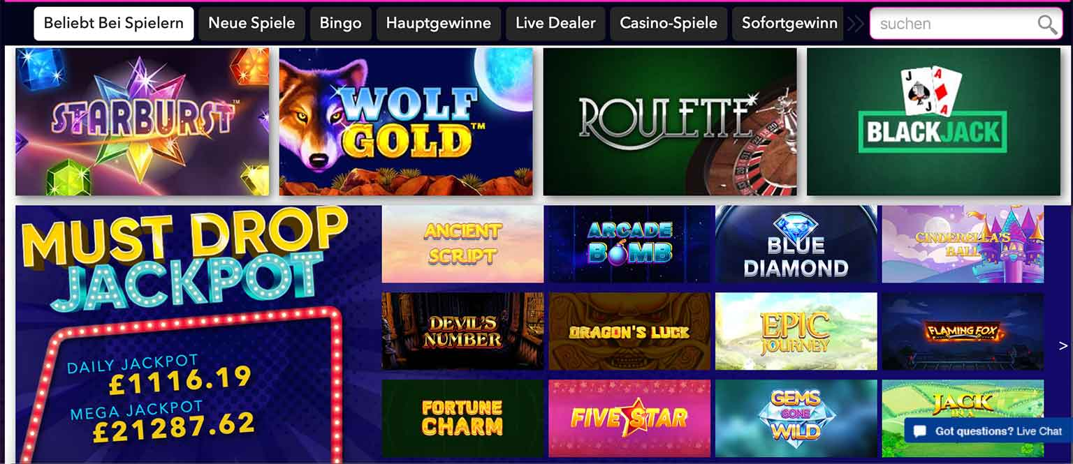 Spiele im Vegas Wins Casino
