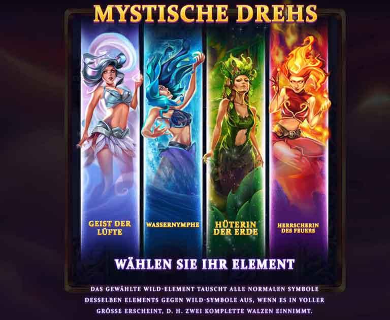 wild elements slot mystische drehs