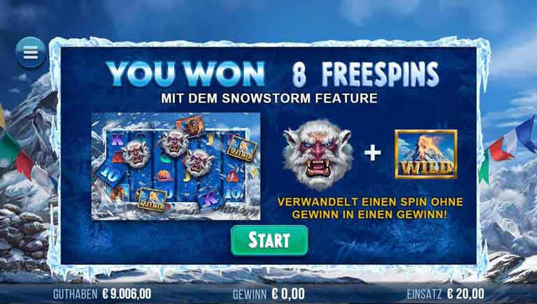 Free Spins Feature 9k Yeti Slot