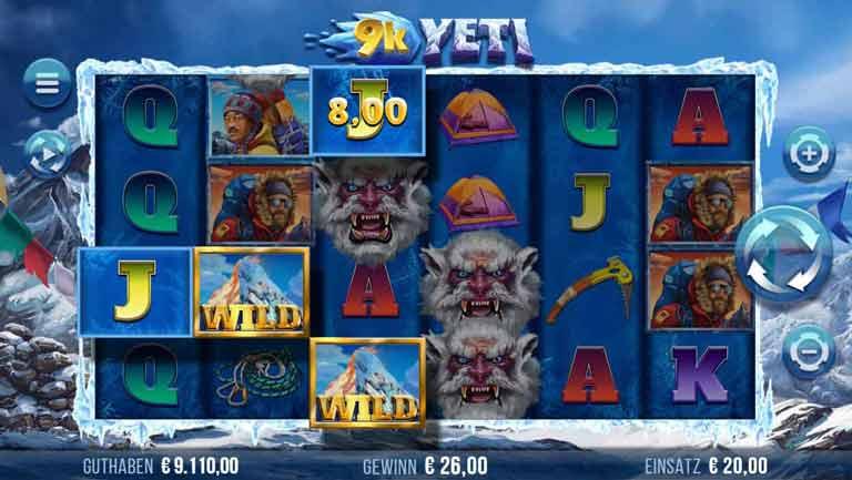 Wild-Symbol 9k Yeti Slot