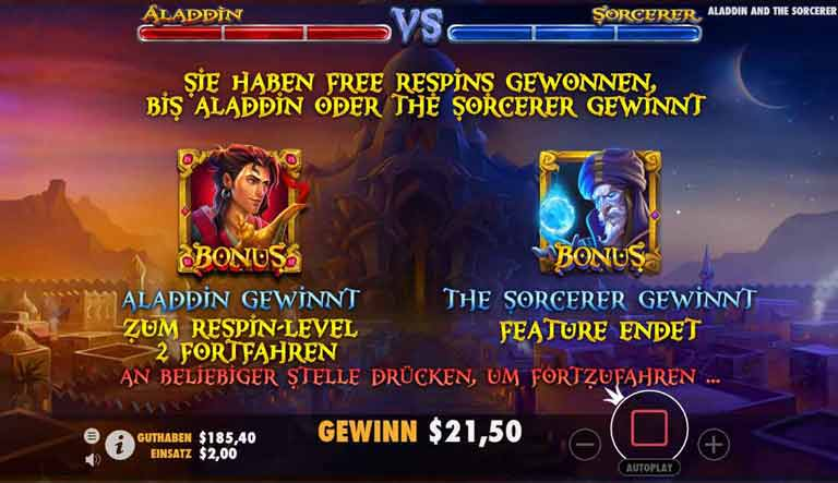 Free Spins Feature Aladdin and the Sorcerer Slot