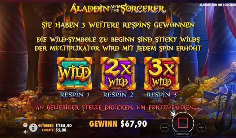 Re-Spins Level 2 Aladdin and the Sorcerer Slot