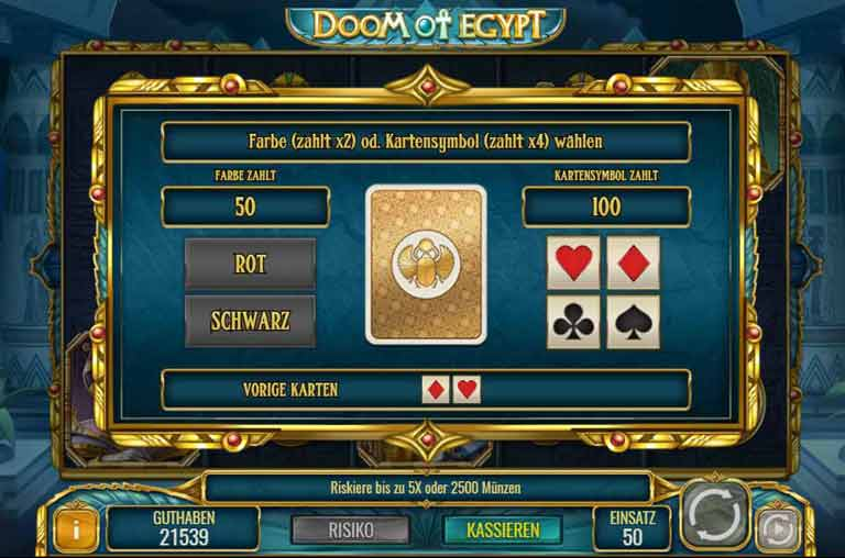 Risiko-Feature Doom of Egypt Slot