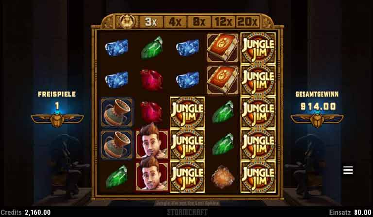 Free Spins Feature Jungle Jim and the Lost Sphinx Slot