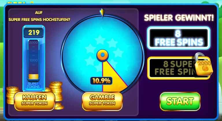 Free Spins Start-Bildschirm Reel Rush 2 Slot