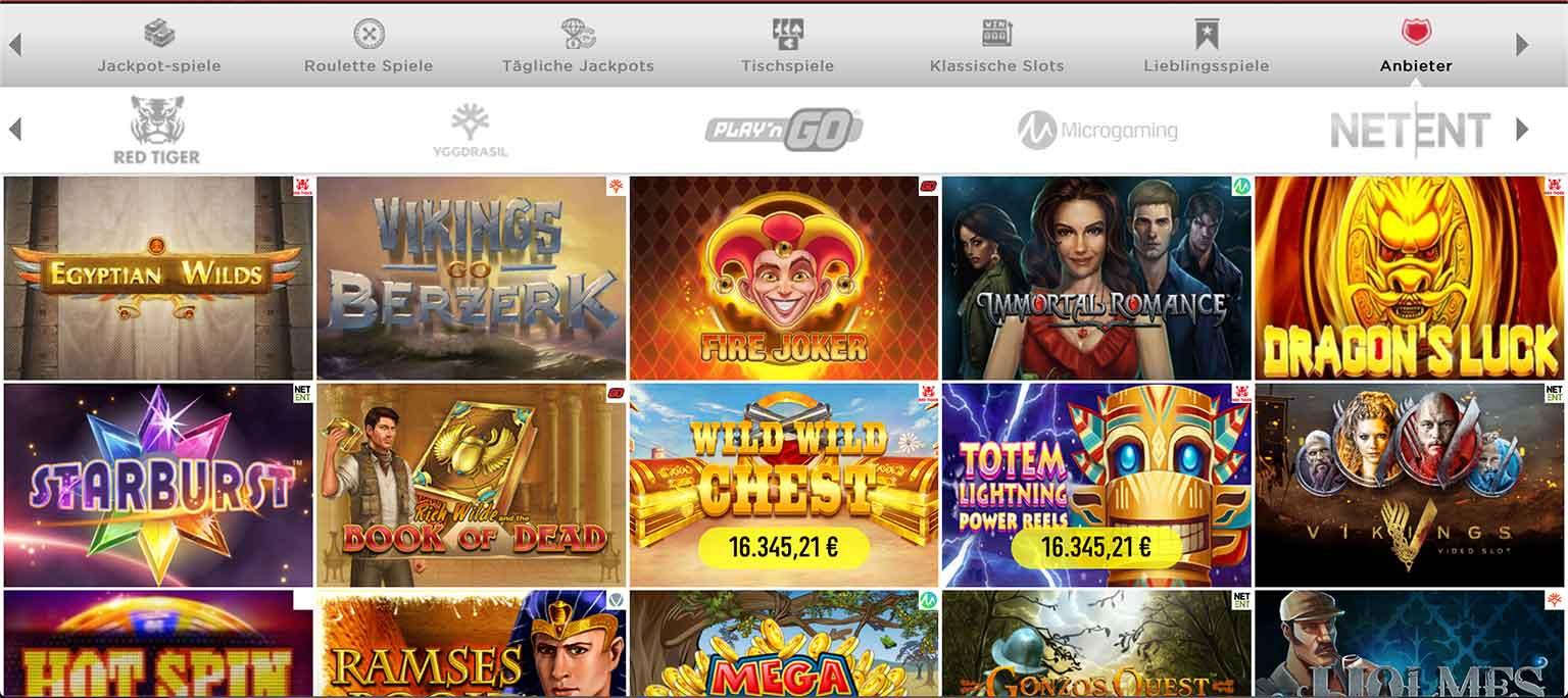 Spinit Casino Spieleauswahl