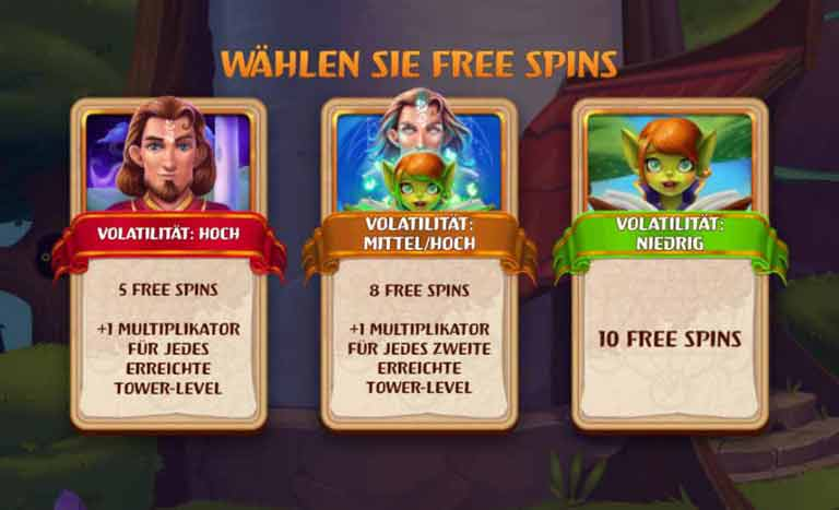 Free Spins Feature Tower Tumble Slot