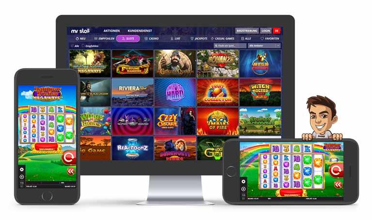 Die Spieleauswahl im Mr Slot Casino