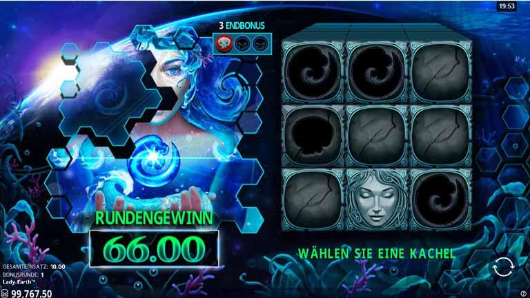 bonus feature vom lady earth slot